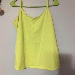 Lane Bryant Cami 14/16 Neon Yellow